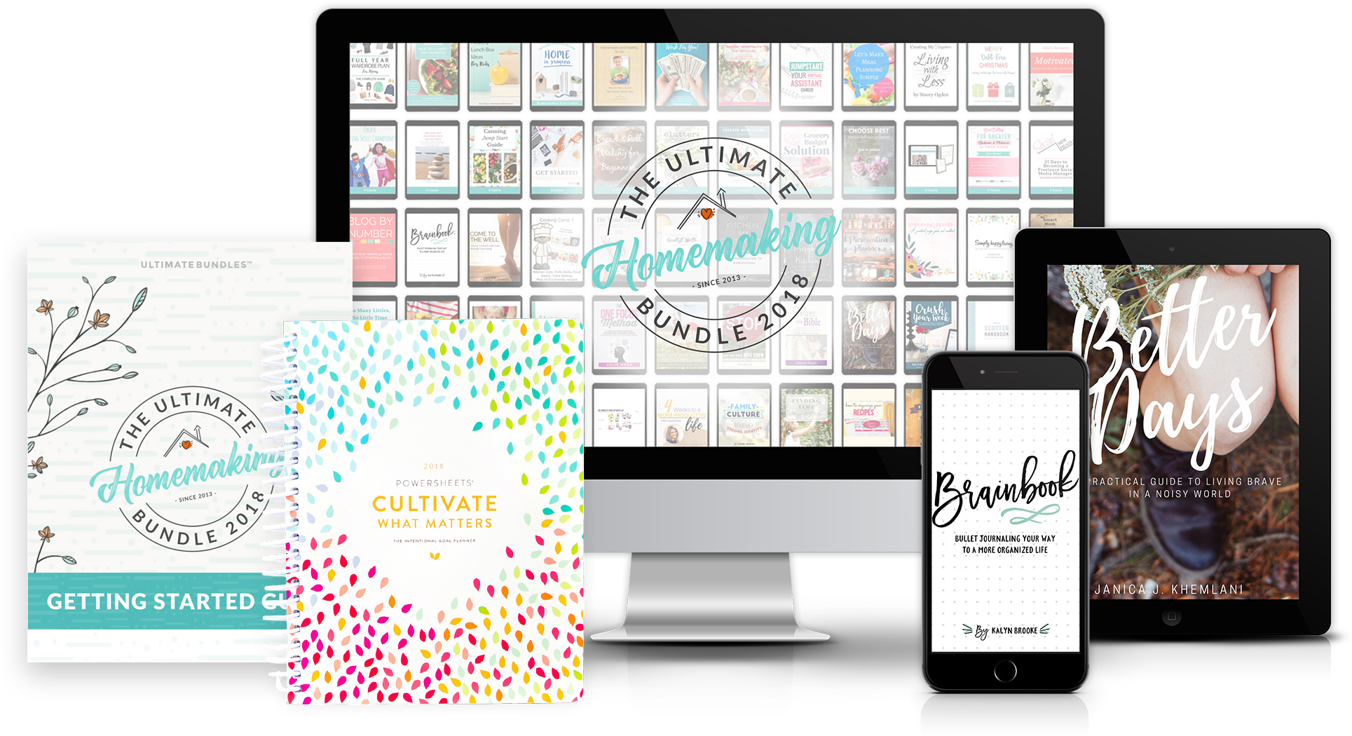 Multi Devices showing the Ultimate Homemaking Bundle