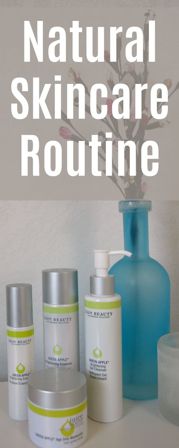 "Photo of Juice Beauty Skincare with text ""Natural Skincare Routine"""