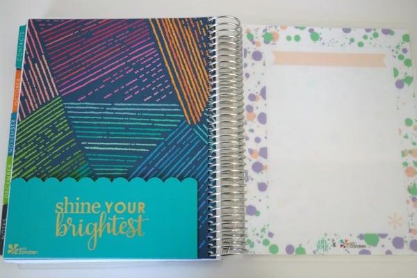 folder and dashboard in Erin Condren planner