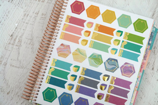 life planner sticker sheets