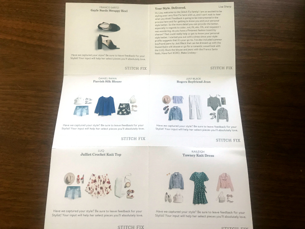 style cards from Stitch Fix