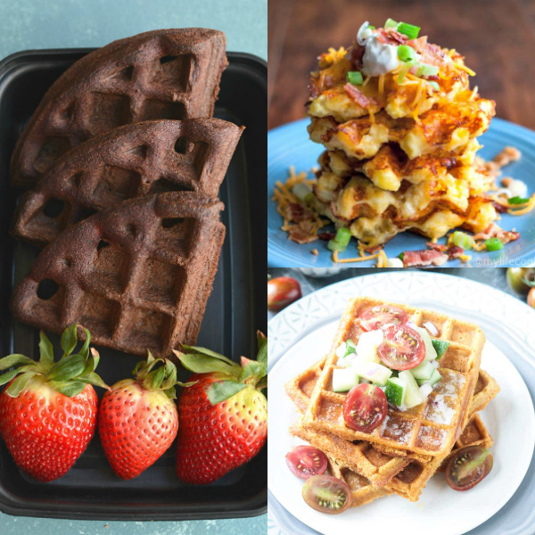collage of waffles