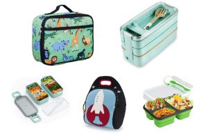 collage of eco lunch boxes