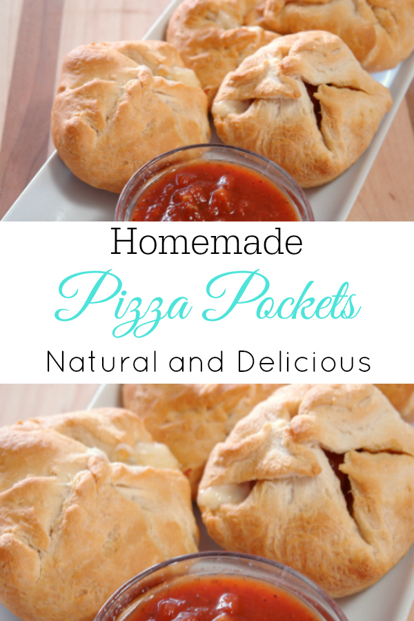 Delicious and easy to make homemade pizza pockets. #recipes