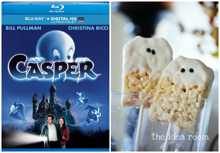 Casper DVD cover and Rice Krispie Ghosts