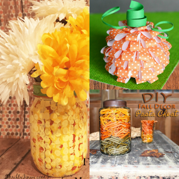 frugal fall decor collage