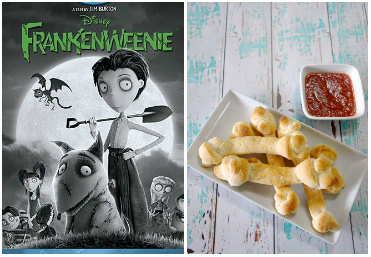 Frankenweenie dvd cover and breadstick bones
