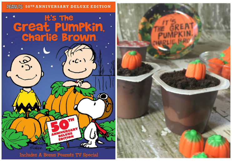 It's the Great Pumpkin Charlie Brown and pumpkin pudding cups