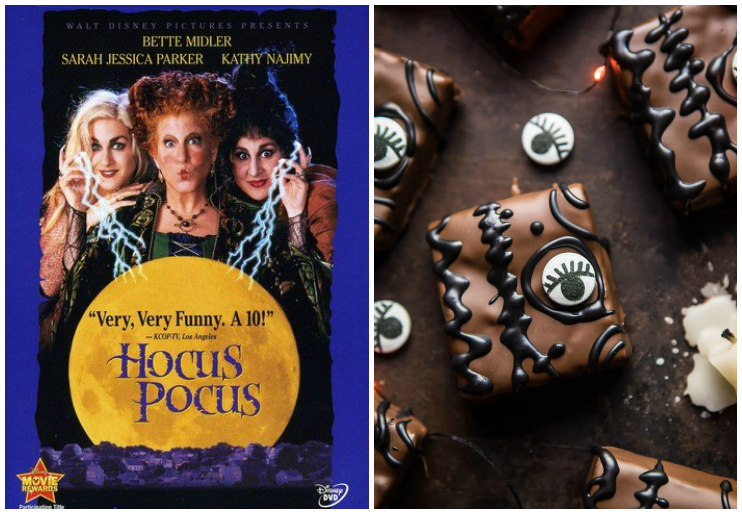 Hocus Pocus DVD cover and Spellbook Brownies