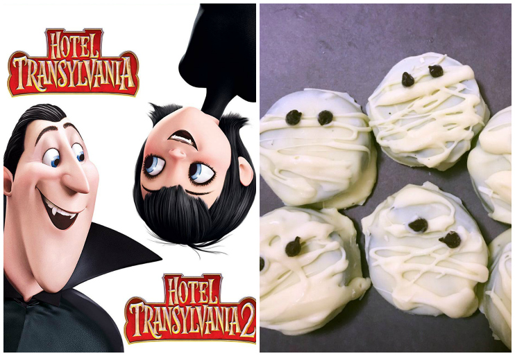 Hotel Transylvania dvd cover and mummy oreos