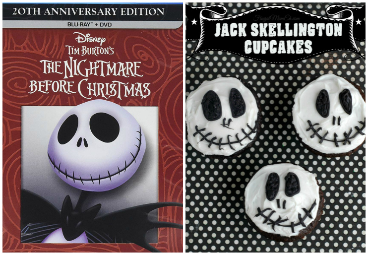 The Nightmare Before Christmas DVD and Cupcakes