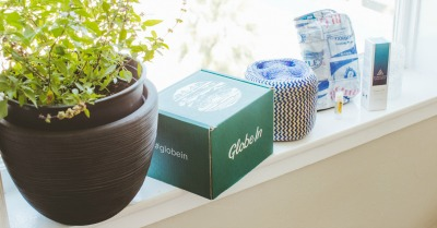 GlobeIn box on window ledge with plant