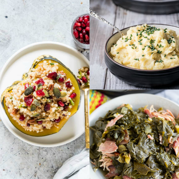 instant pot thanksgiving side dish collage