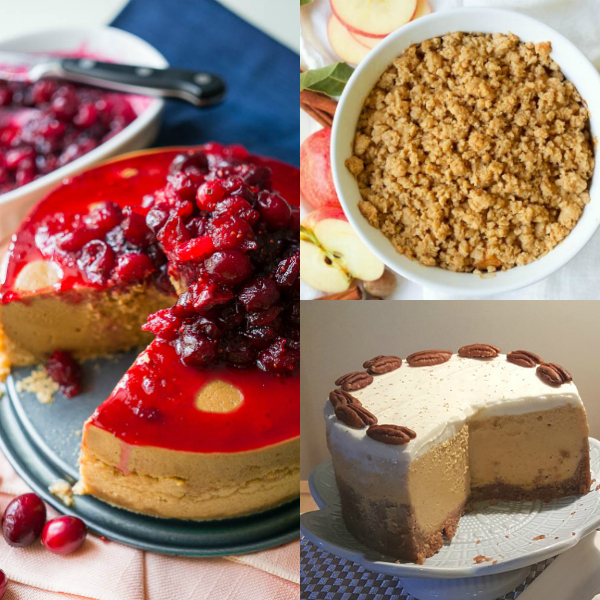 instant pot thanksgiving dessert collage