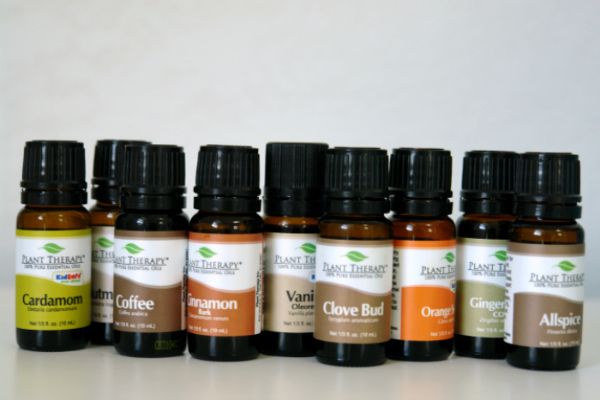 Plant Therapy bottles of essential oils