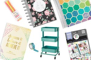 collage of planner gifts