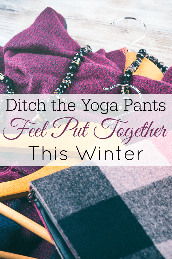 purple winter clothing and hangers