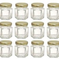 Mini Hex Glass Jars 1.5 Oz