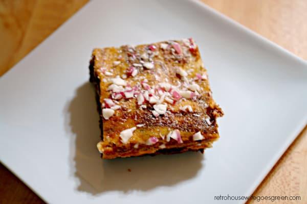 Peppermint Cheesecake Brownies
