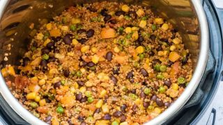 Dump and Start Instant Pot Mexican Quinoa + Tutorial {Vegan, Gluten Free}