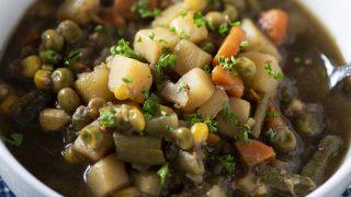 Dump and Go Instant Pot Vegetable Soup