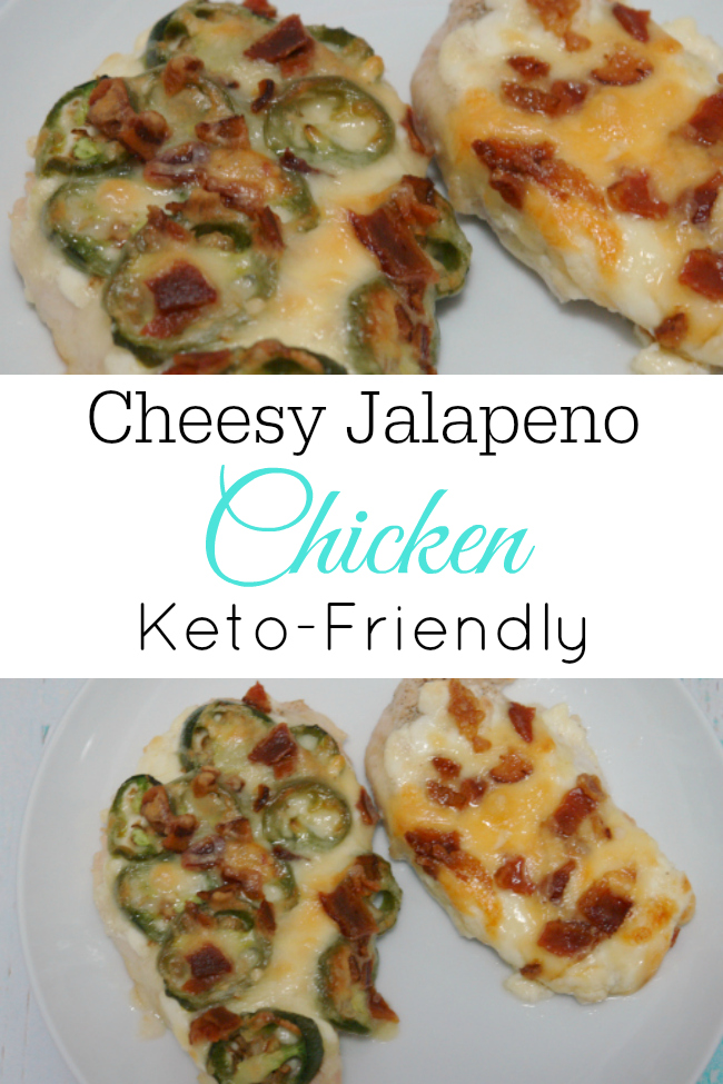 This Cheesy Jalapeno Chicken recipe is easy to make and delicious. It's also keto-friendly and just leave off the jalapeños to make it kid-friendly. #chicken #keto