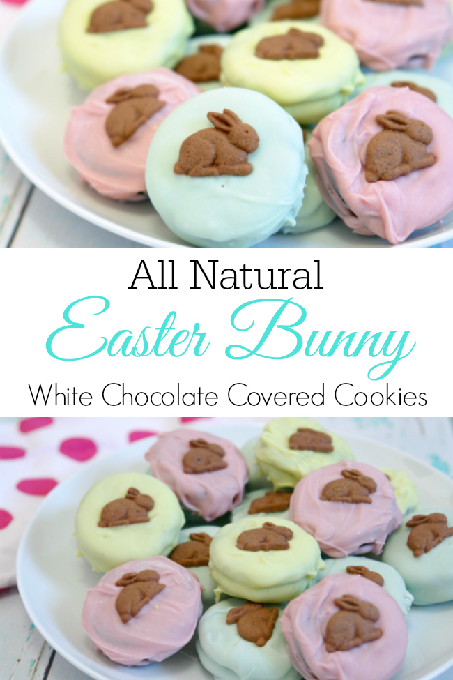 easter bunny cookies on plate