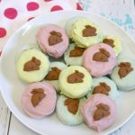 White Chocolate Covered Easter Cookies