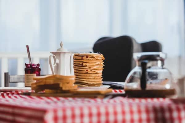 breakfast on a vintage table