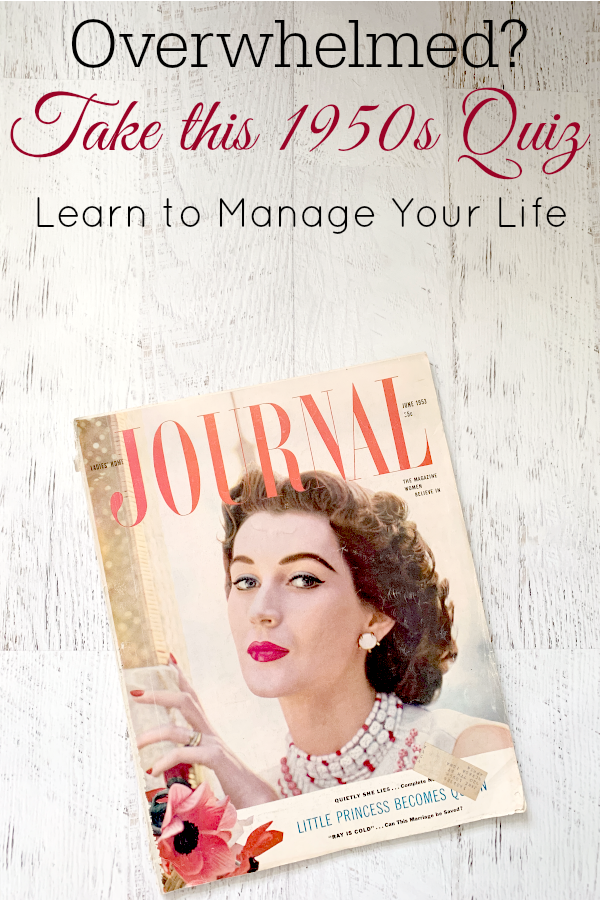 Vintage Ladies' Home Journal on white wooden background