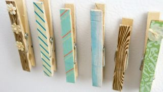 Clothespin Magnets with Washi Tape