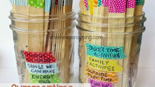 Washi Tape Summer Boredom Buster Jars