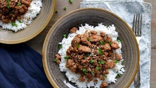Korean Ground Turkey & Rice Bowls