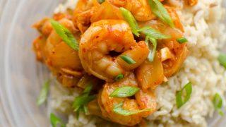 Shrimp and Kimchi Stir Fry
