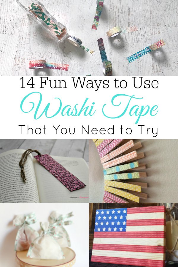 collage of washi tape and crafts