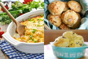 collage of dishes using bisquick