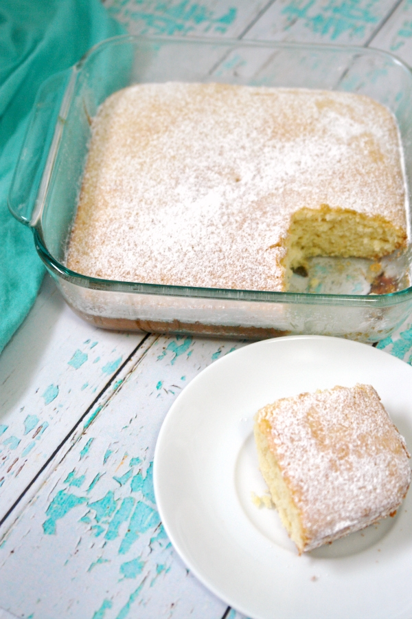 Simple Hot Milk Cake recipe that is perfect with fresh fruit. #cake #dessert