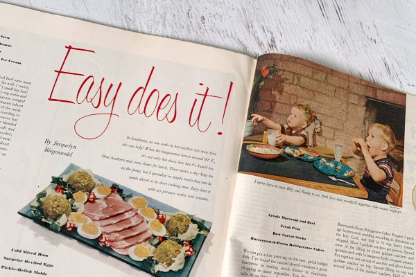 1950's magazine article- Easy Does It!