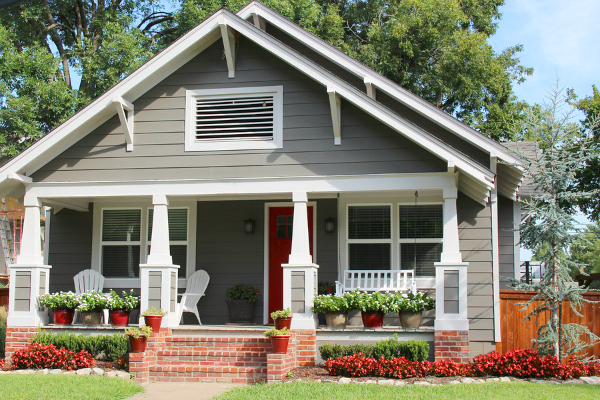older house with a porch