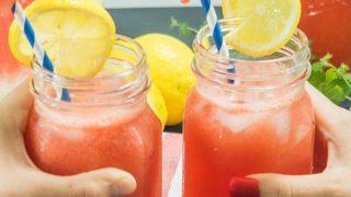 Easy Watermelon Lemonade (Refined Sugar-Free)