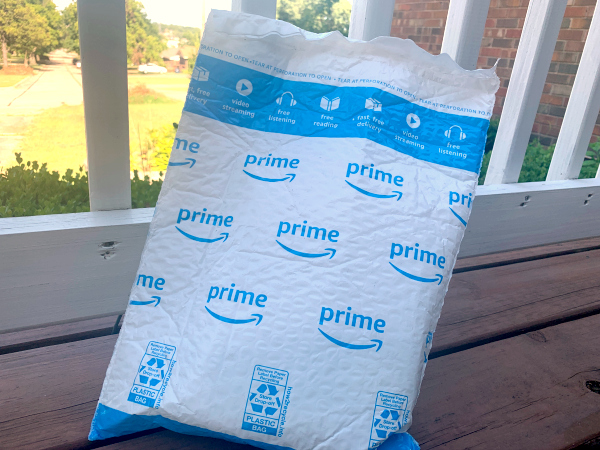 amazon package on porch