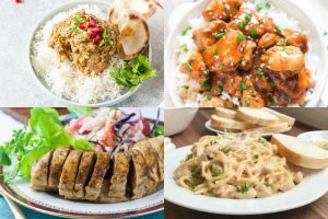 Chicken Instant Pot recipes collage