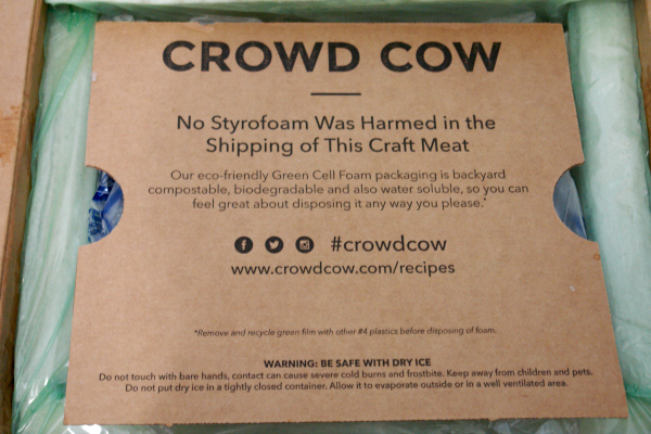 crowd cow eco-friendly packaging
