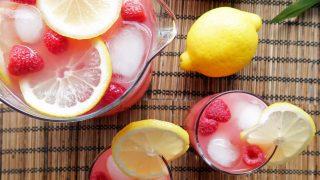 Raspberry Green Tea Lemonade