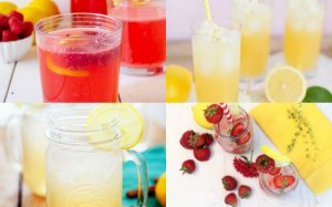 collage of lemonade