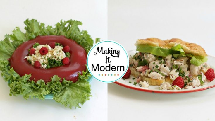Raspberry Chicken Jello Salad