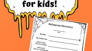 Free printable Halloween memory sheet for kids and famlies