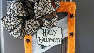 Spooky DIY Halloween Door Hanger