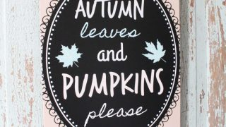Autumn Leaves and Pumpkins Please Free Fall Printable