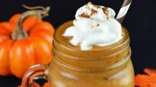 Homemade Pumpkin Spice Frappe